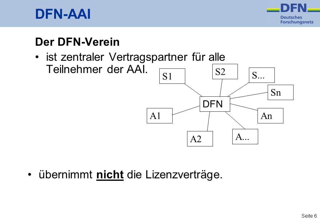 DFN-AAI Der DFN-Verein
