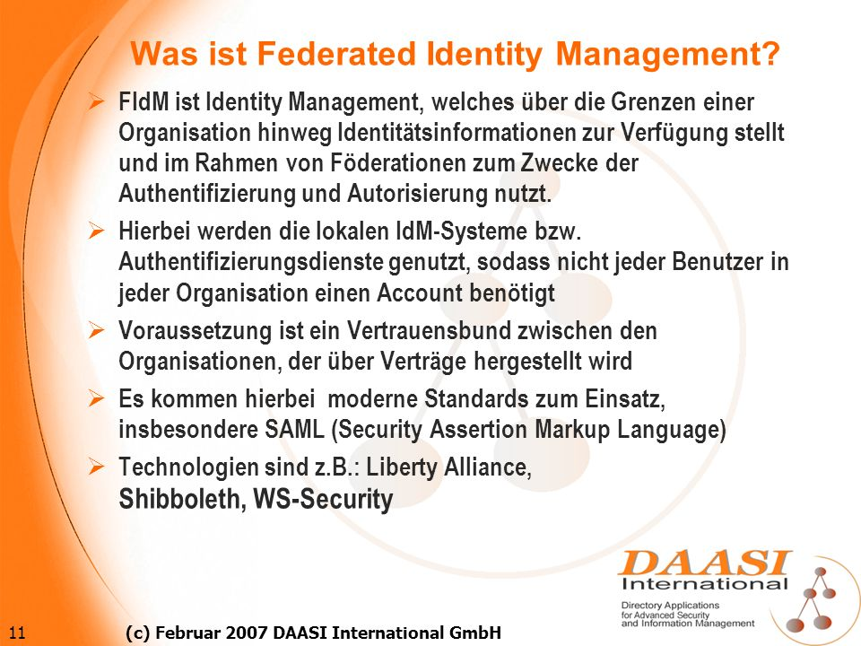 Was ist Federated Identity Management