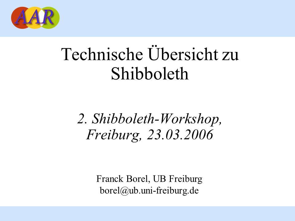 Technische Übersicht zu Shibboleth