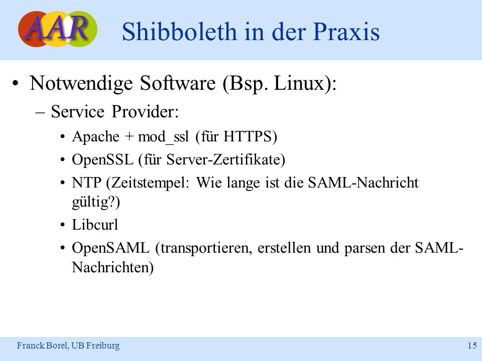 Shibboleth in der Praxis