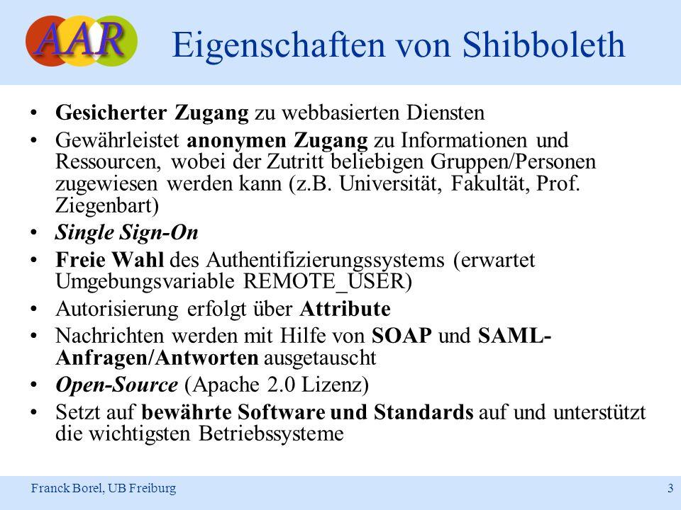 Eigenschaften von Shibboleth