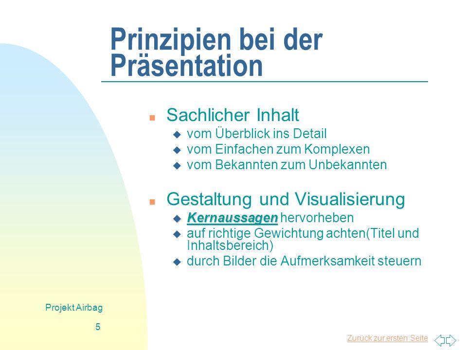 Prinzipien bei der Präsentation