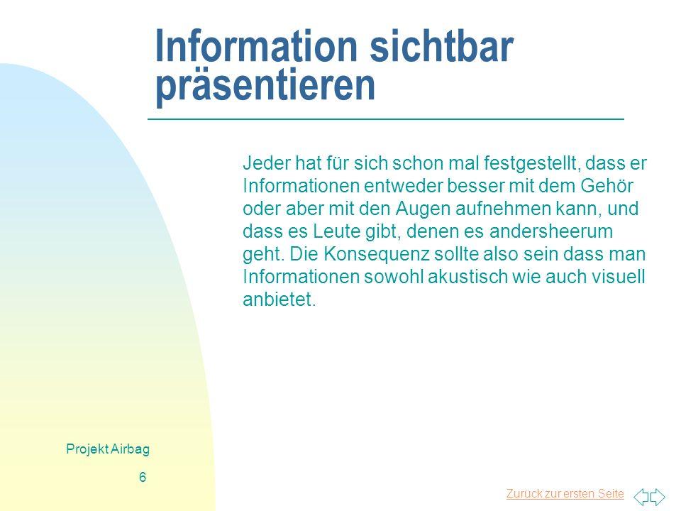 Information sichtbar präsentieren