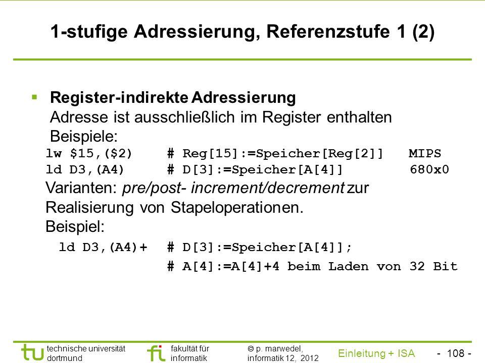 1-stufige Adressierung, Referenzstufe 1 (2)