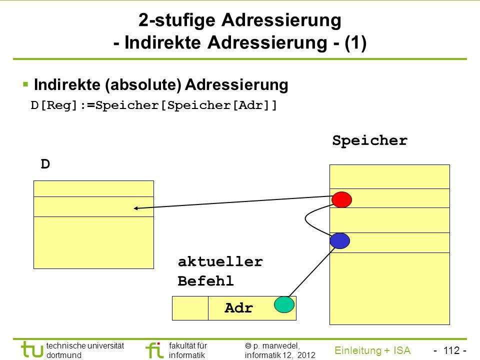 2-stufige Adressierung - Indirekte Adressierung - (1)