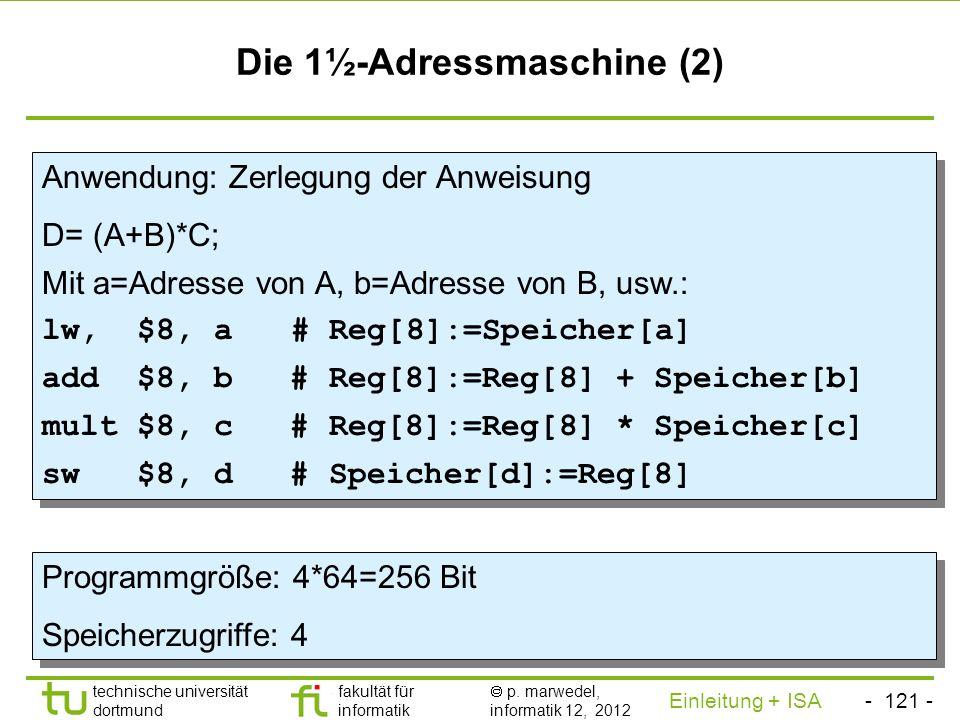 Die 1½-Adressmaschine (2)