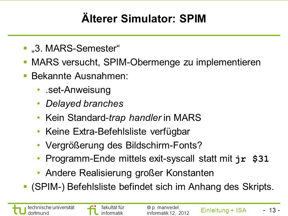 Älterer Simulator: SPIM