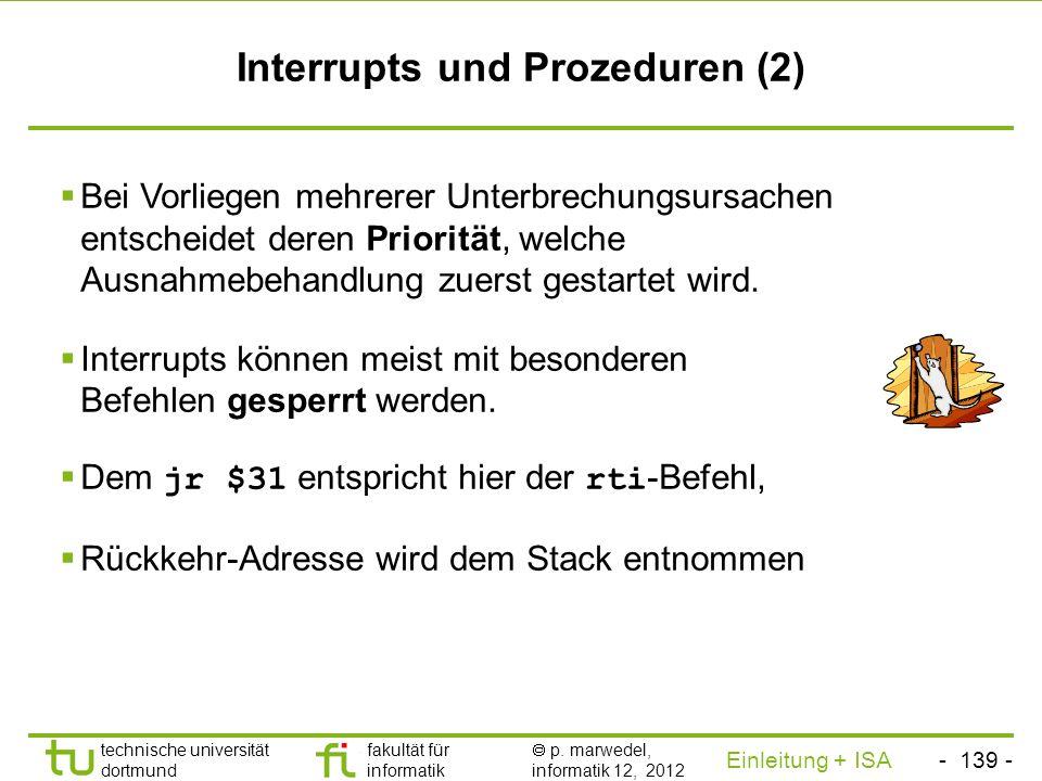 Interrupts und Prozeduren (2)