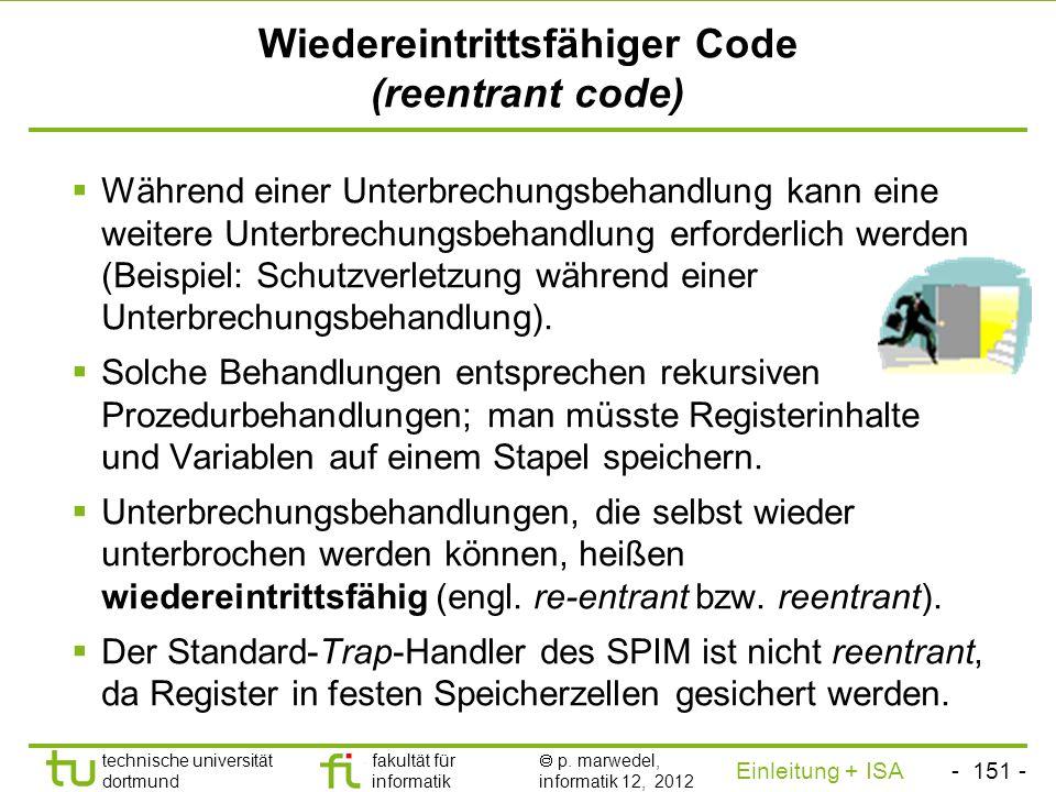 Wiedereintrittsfähiger Code (reentrant code)