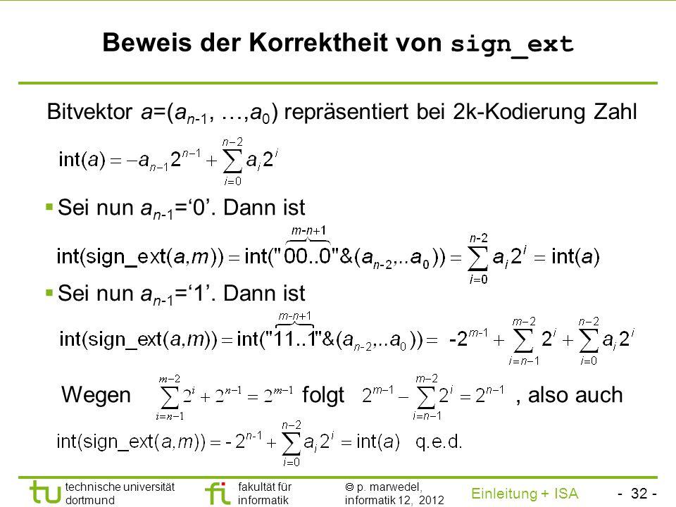 Beweis der Korrektheit von sign_ext