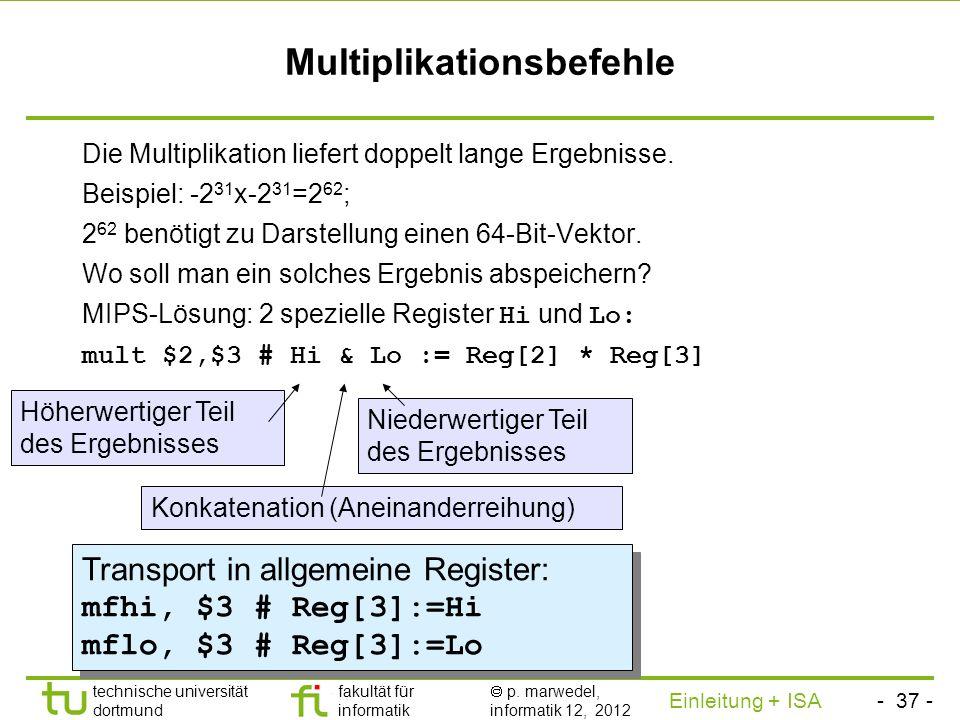 Multiplikationsbefehle