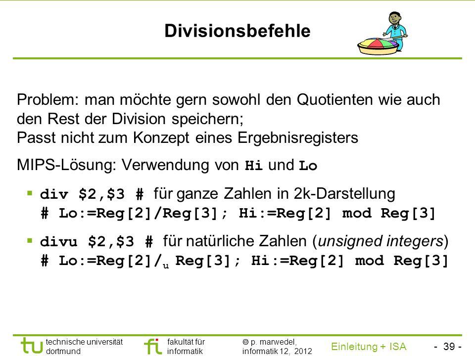 Divisionsbefehle