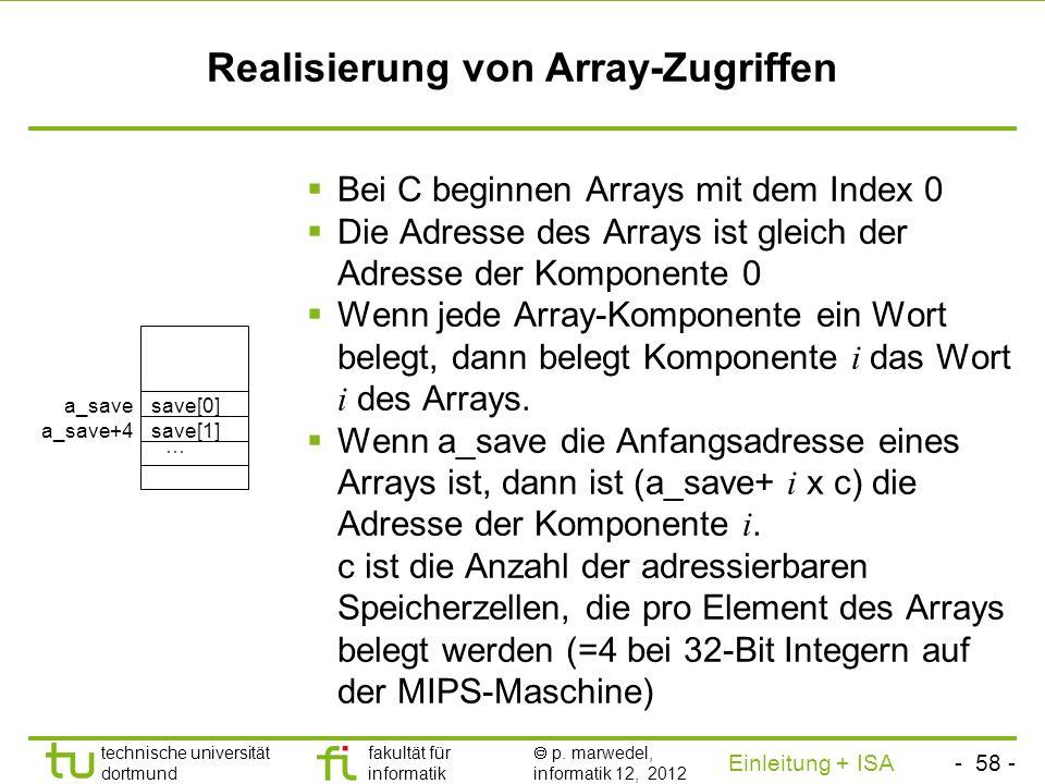 Realisierung von Array-Zugriffen