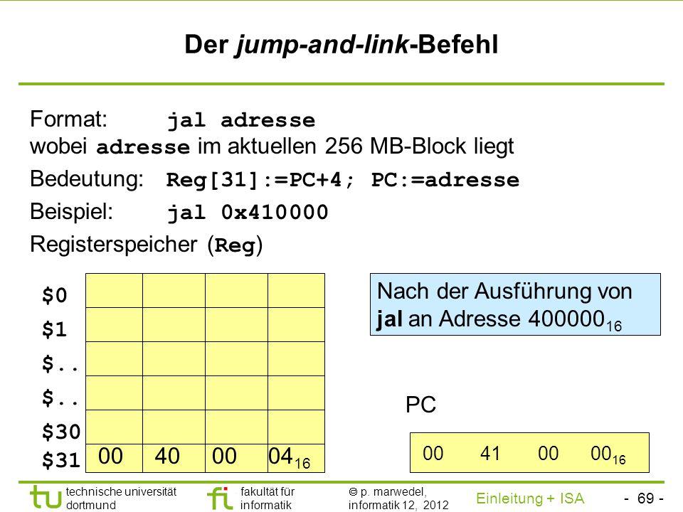 Der jump-and-link-Befehl