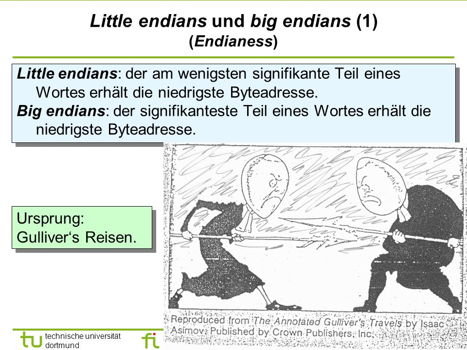 Little endians und big endians (1) (Endianess)