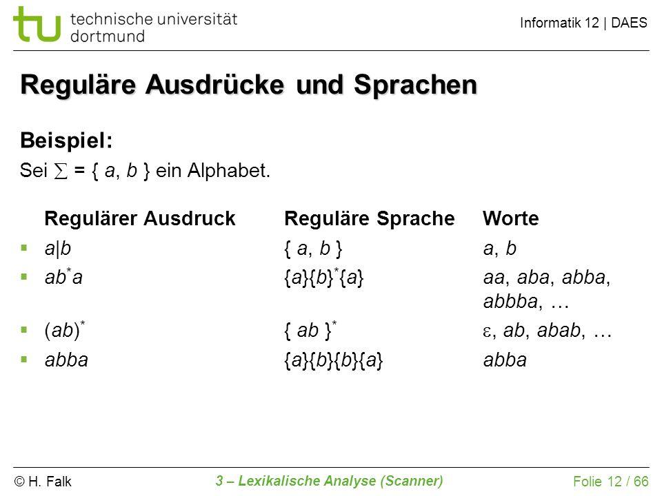 Reguläre Ausdrücke und Sprachen