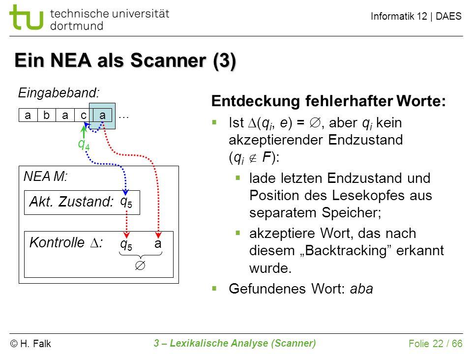 Ein NEA als Scanner (3) Entdeckung fehlerhafter Worte: