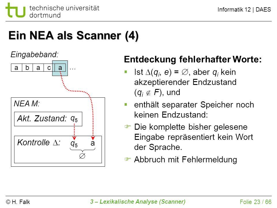 Ein NEA als Scanner (4) Entdeckung fehlerhafter Worte: