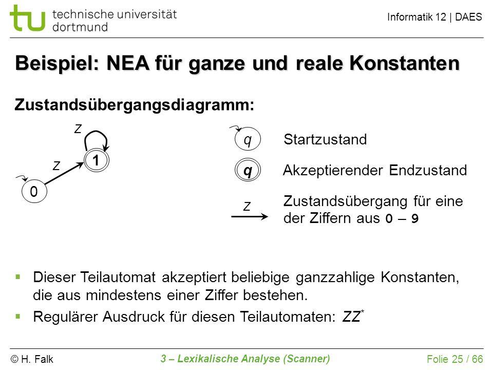 Beispiel: NEA für ganze und reale Konstanten