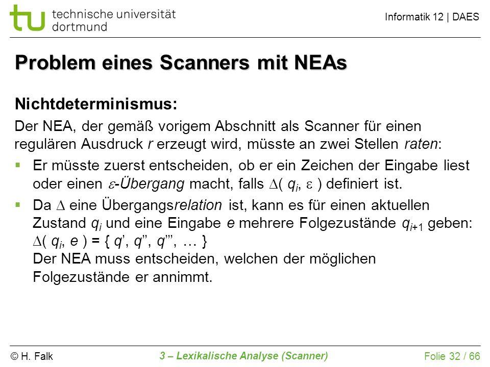 Problem eines Scanners mit NEAs