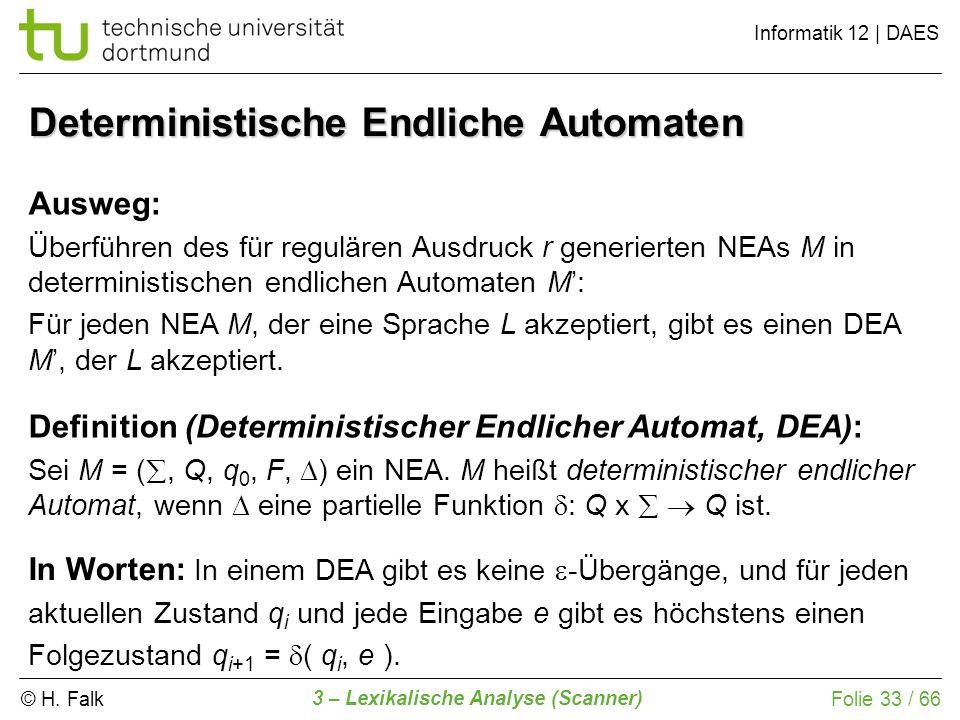 Deterministische Endliche Automaten