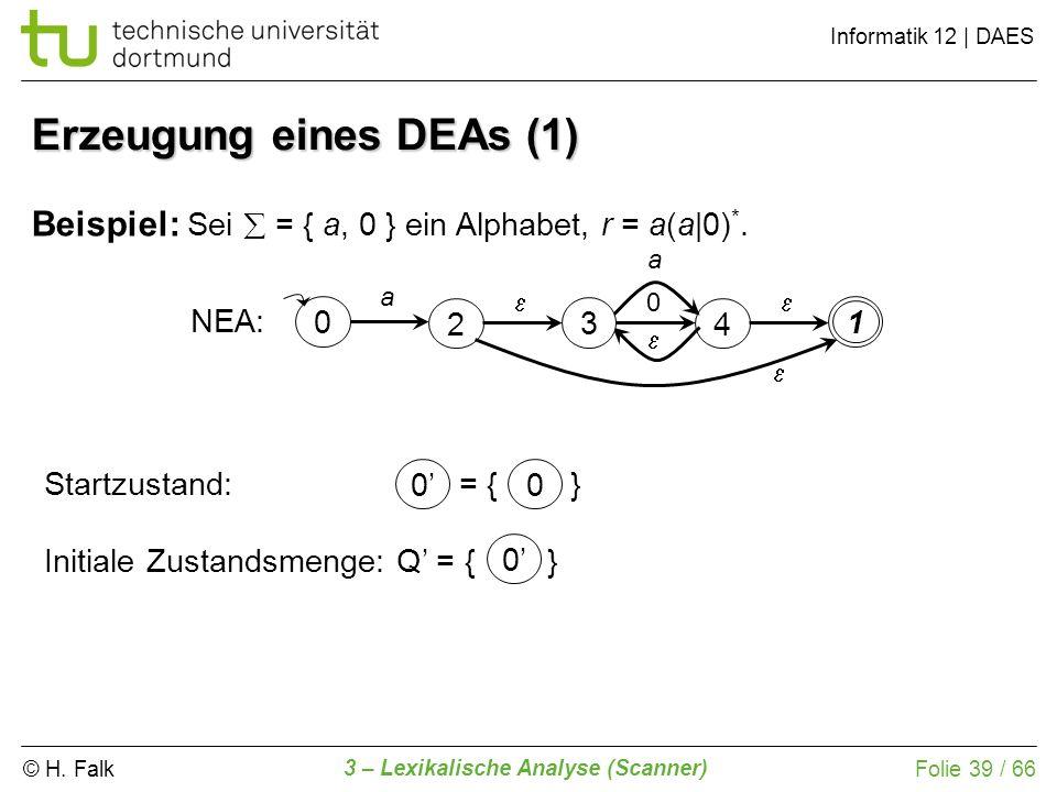 Erzeugung eines DEAs (1)