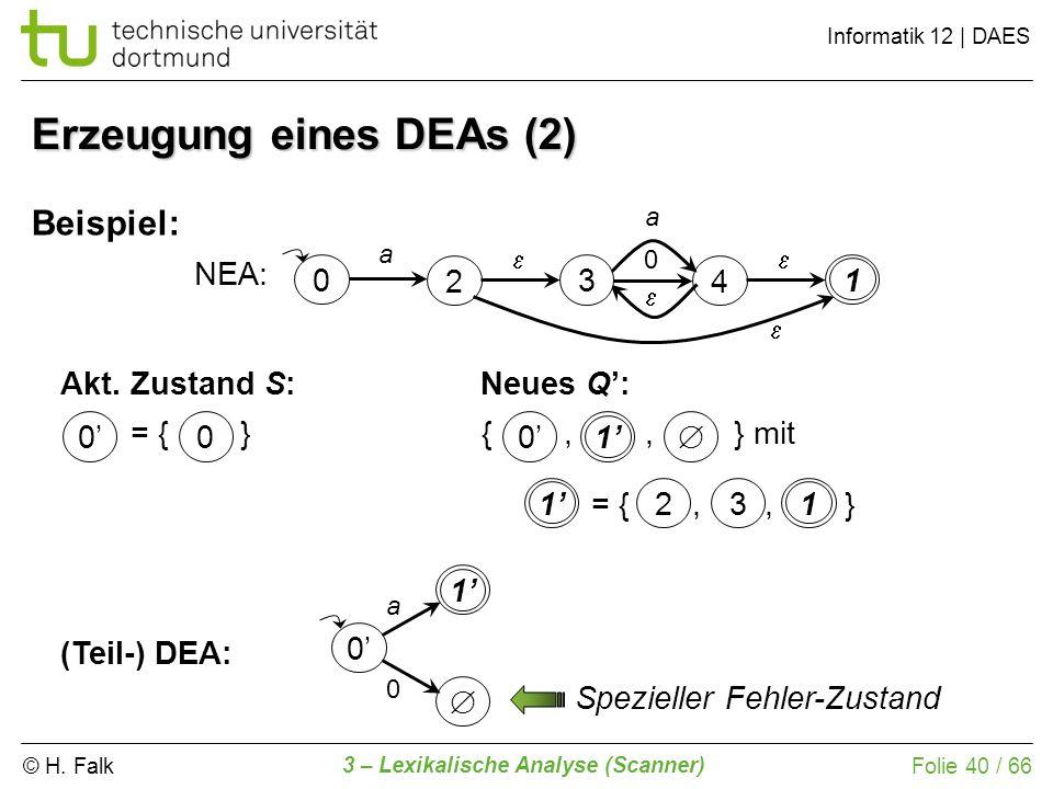 Erzeugung eines DEAs (2)