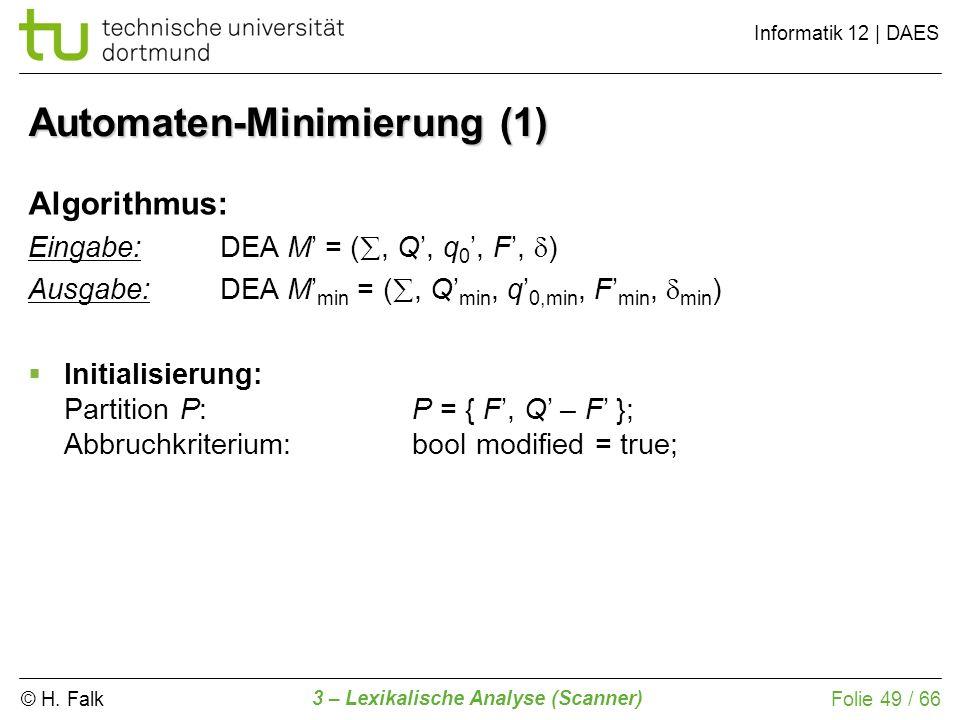 Automaten-Minimierung (1)