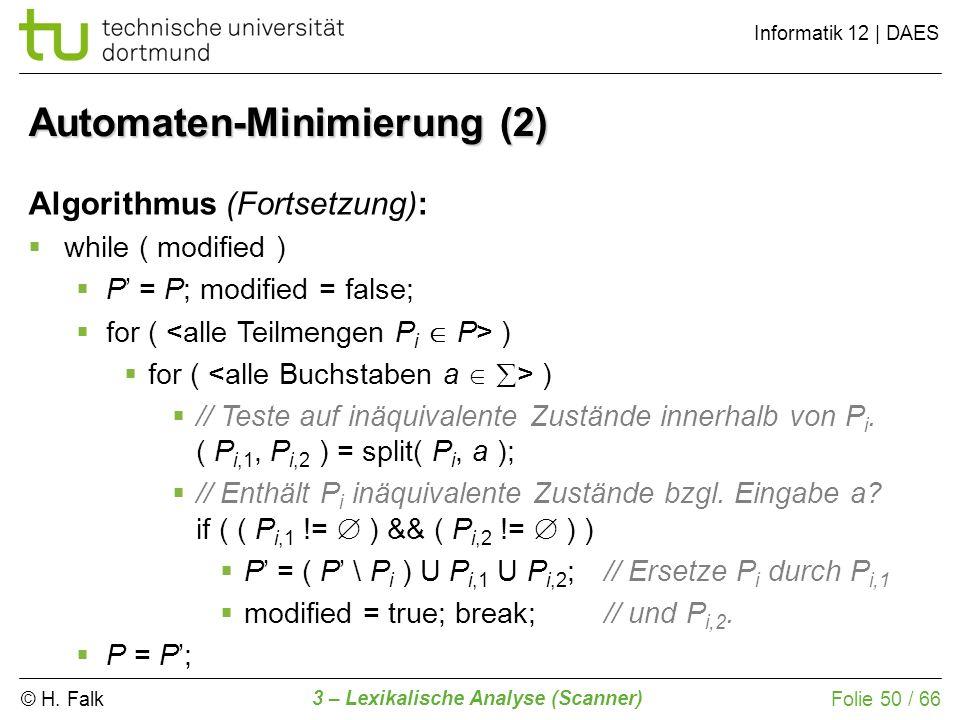 Automaten-Minimierung (2)
