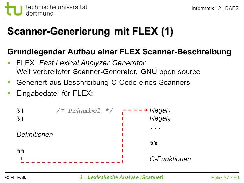 Scanner-Generierung mit FLEX (1)