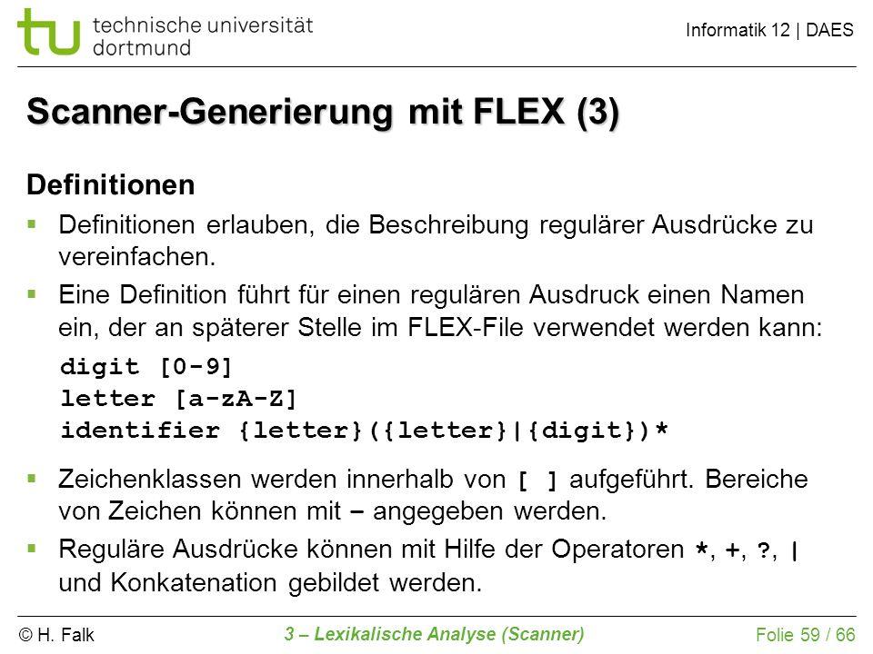 Scanner-Generierung mit FLEX (3)