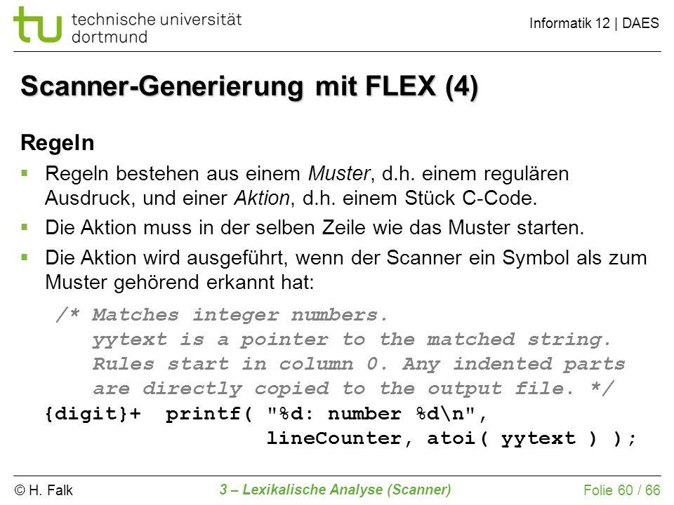 Scanner-Generierung mit FLEX (4)