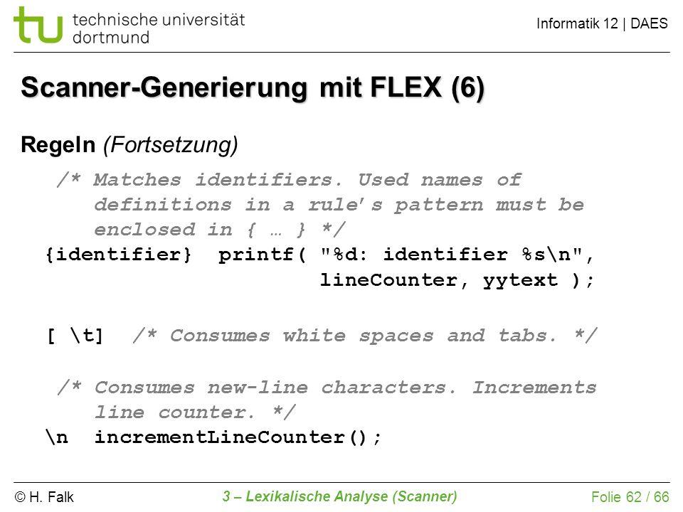 Scanner-Generierung mit FLEX (6)