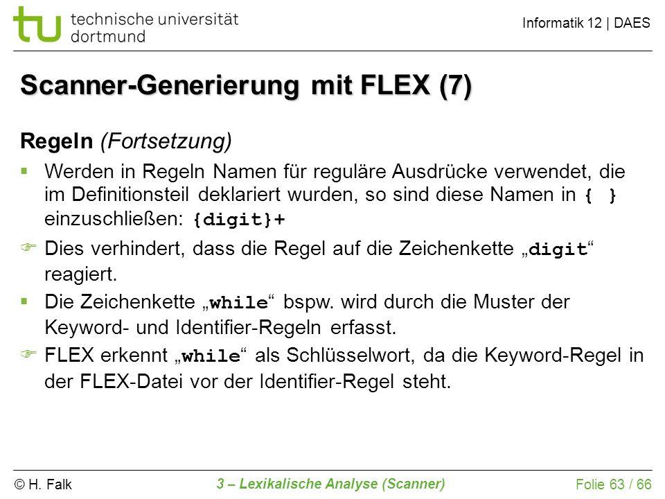 Scanner-Generierung mit FLEX (7)