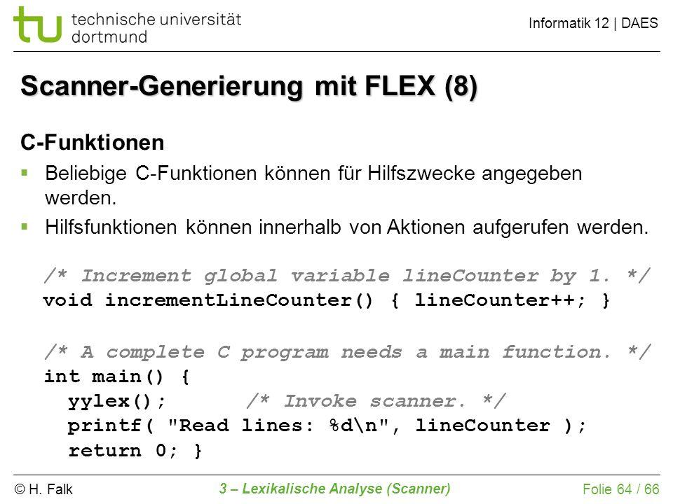 Scanner-Generierung mit FLEX (8)