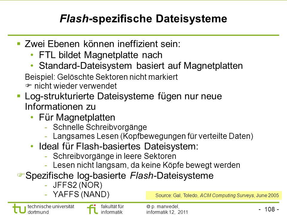 Flash-spezifische Dateisysteme