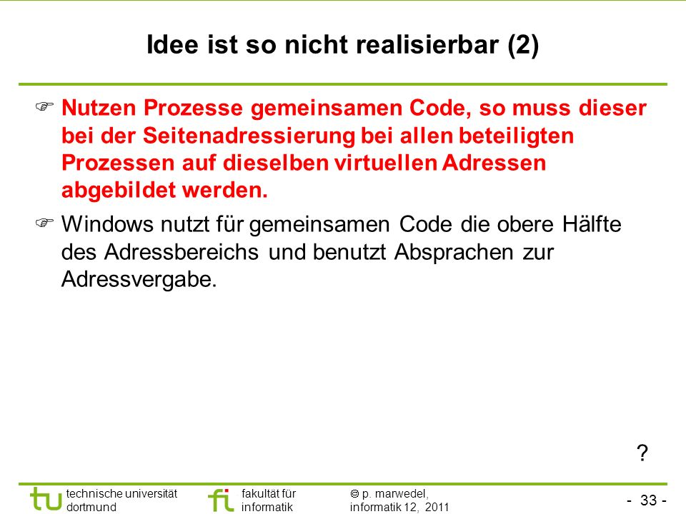 Idee ist so nicht realisierbar (2)