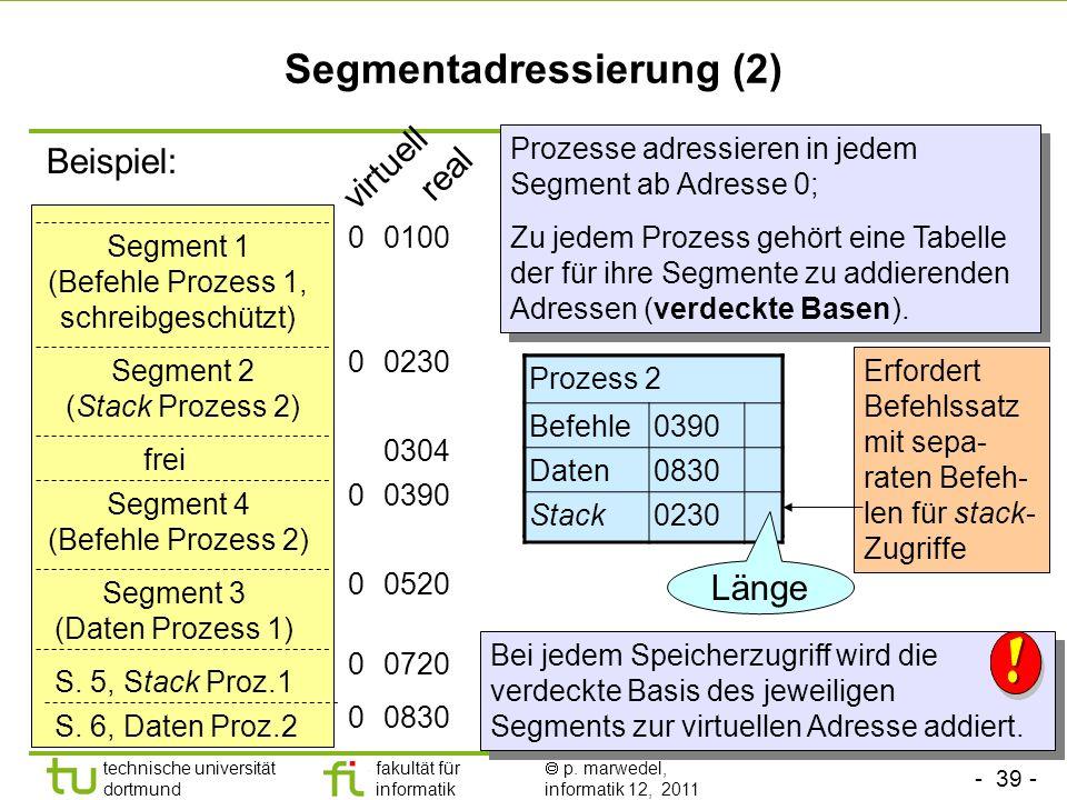 Segmentadressierung (2)