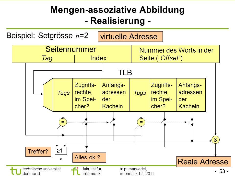 Mengen-assoziative Abbildung - Realisierung -