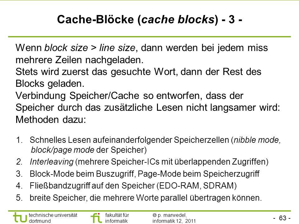 Cache-Blöcke (cache blocks) - 3 -