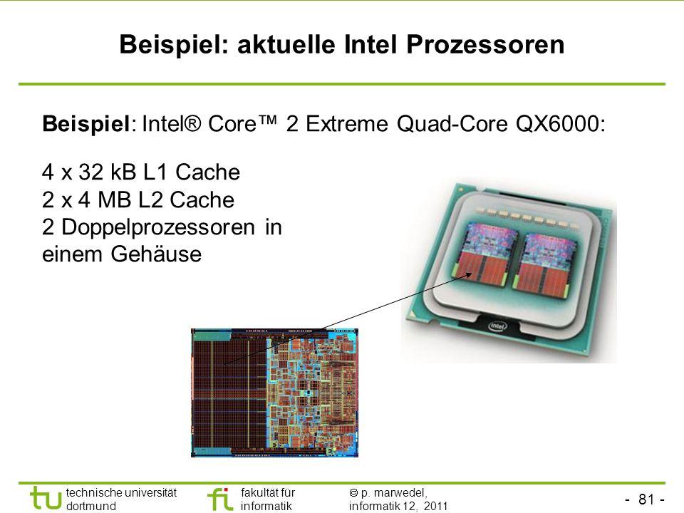 Beispiel: aktuelle Intel Prozessoren