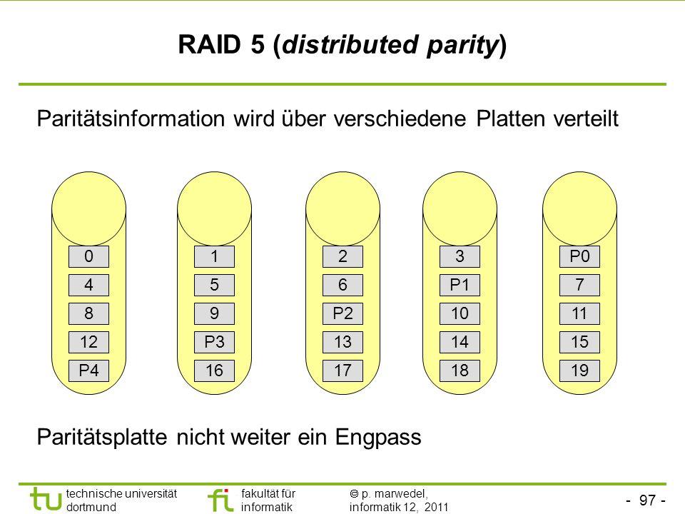 RAID 5 (distributed parity)