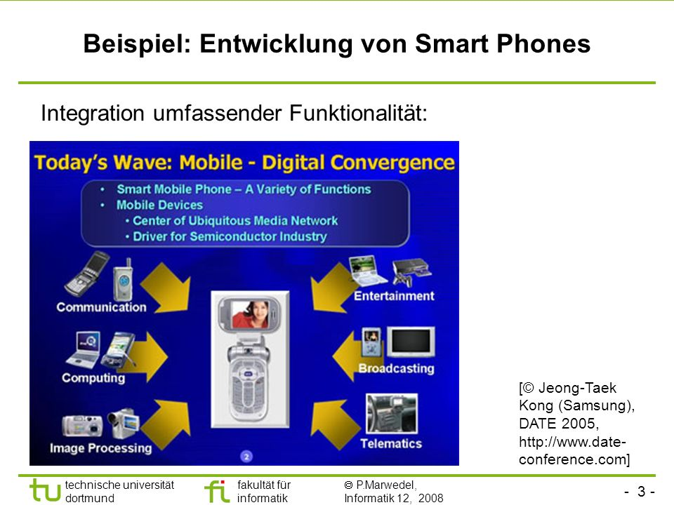 Beispiel: Entwicklung von Smart Phones