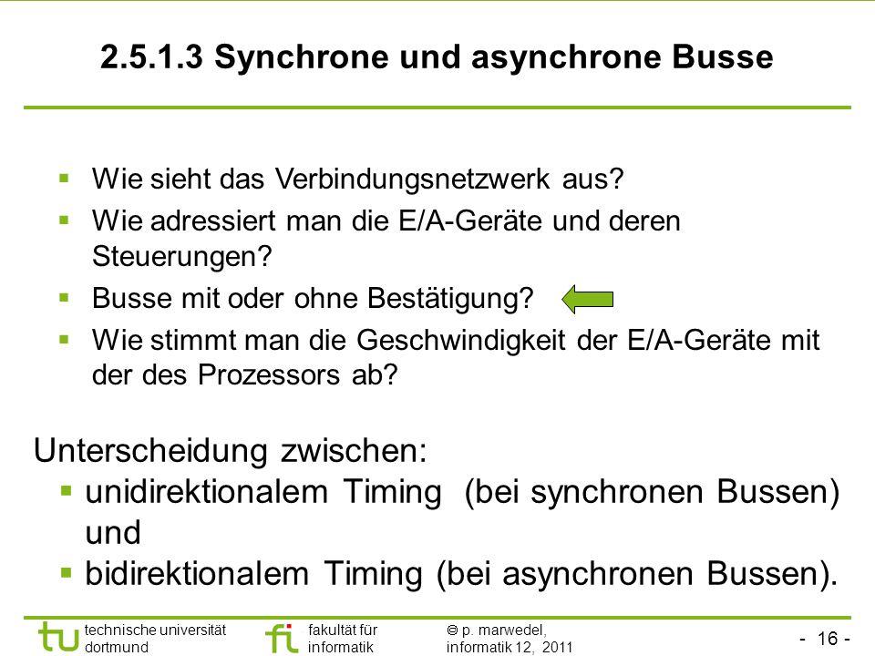 2.5.1.3 Synchrone und asynchrone Busse