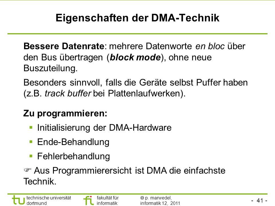 Eigenschaften der DMA-Technik