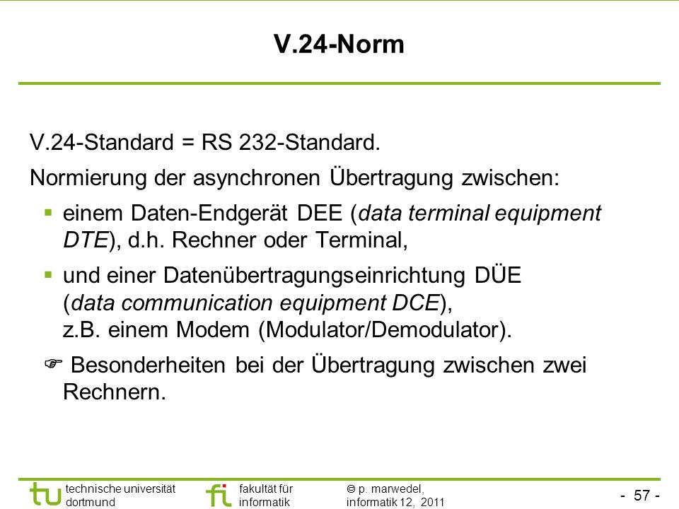 V.24-Norm V.24-Standard = RS 232-Standard.