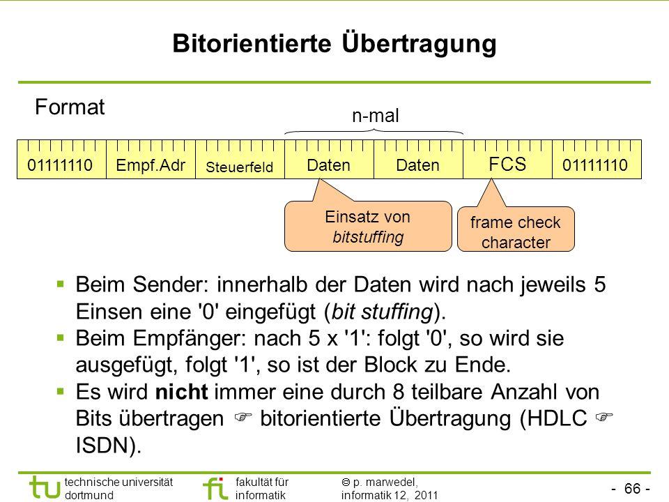 Bitorientierte Übertragung