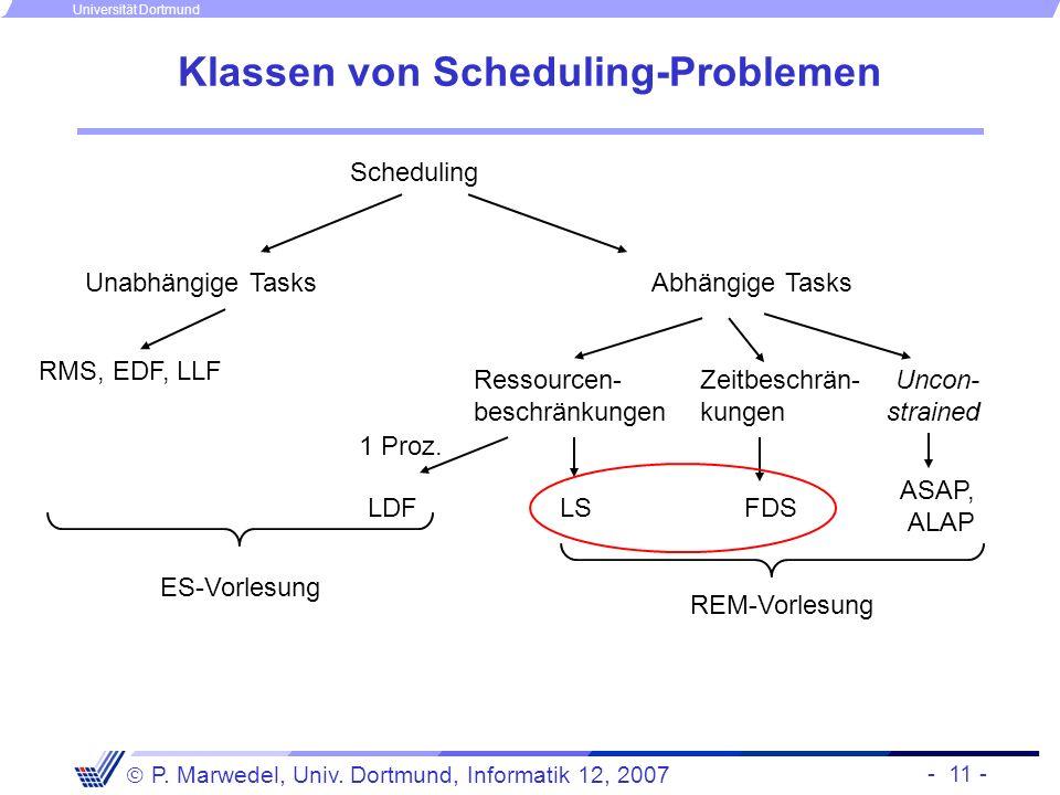Klassen von Scheduling-Problemen