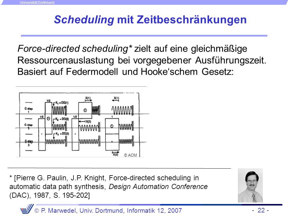 Scheduling mit Zeitbeschränkungen