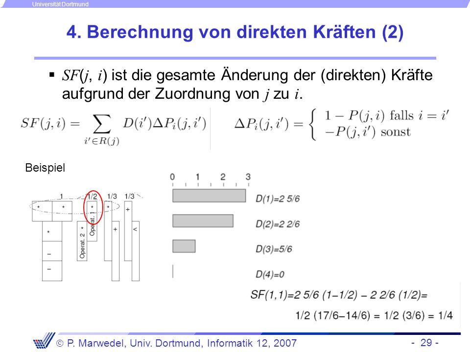 4. Berechnung von direkten Kräften (2)